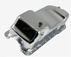 83 93 Mustang Oil Pan Dual Sump Chrome Stock Style 5 0 302 Small Block Ford
