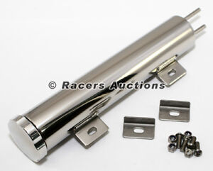 16x3 Stainless Radiator Overflow Tank 44 Oz Universal Catch Can
