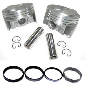 Speed Pro H618cp30 Chevy 350 355 125 Dome Hyper Pistons Moly Ring Kit 030 Sbc