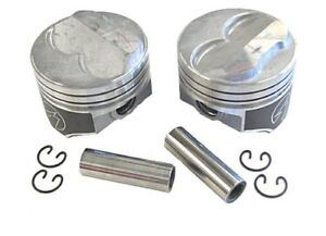 Speed Pro H617cp Small Block Chevy 350 275 Dome Hyper Pistons Std Bore 5 7 Sbc