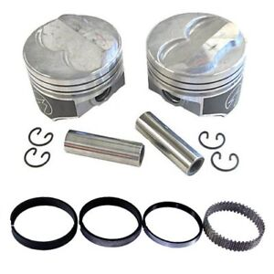 Speed Pro H617cp Chevy 350 275 Dome Hyper Pistons Moly Rings Kit Std Bore Sbc