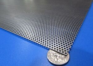 Perforated Staggered Steel Sheet 030 Thick X 24 X 24 062 Hole Dia