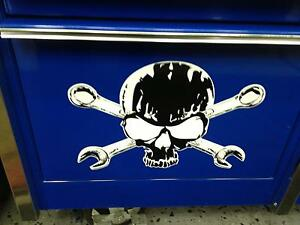Skull And Cross Wrenches Decal For Drawer Snap On Tool Box Cart Krl