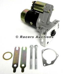 New Chevy Sbc Bbc Mini Gear Reduction Starter Motor Black 350 396 400 427 454