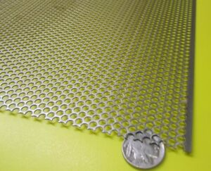 Perforated Staggered Steel Sheet 036 Thick X 24 X 24 125 Hole Dia