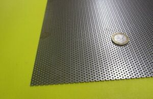 Perforated Staggered Steel Sheet 048 Thick X 24 X 24 125 Hole Dia