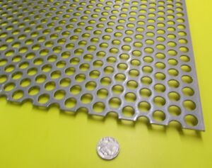 Perforated Staggered Steel Sheet 060 Thick X 24 X 24 500 Hole Dia