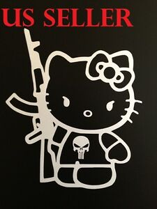5 X6 Hello Kitty Ak47 Car Sticker Emblem Label Window Laptop Ipad Stick K 5