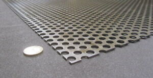Perforated Staggered Steel Sheet 075 Thick X 24 X 24 375 Hole Dia