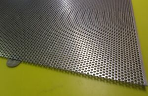 Perforated Straggered Steel Sheet 060 Thick X 36 X 40 140 Hole Dia