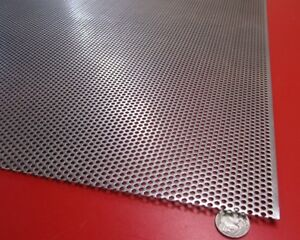 Perforated Straggered Steel Sheet 060 Thick X 36 X 40 156 Hole Dia