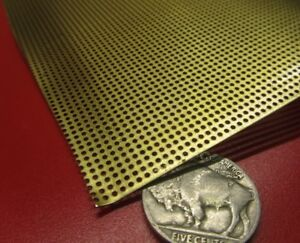 Brass Perforated Extra Thin Sheet 016 Thick X 24 X Per Ft 040 Ho