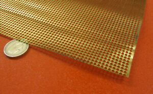 Brass Perforated Extra Thin Sheet 016 Thick X 24 X Per Ft 103 Hole Dia