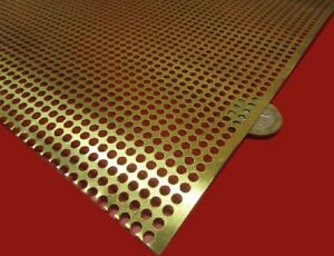 Brass Perforated Extra Thin Sheet 016 Thick X 24 X Per Ft 138 Hole Dia
