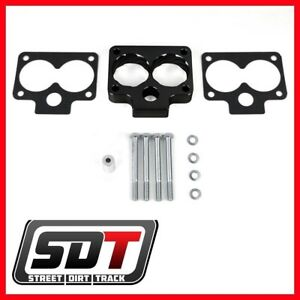 1993 1998 Jeep Grand Cherokee Zj Throttle Body Spacer Kit 52mm 2wd 4wd Black