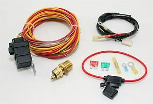 New Complete 40 Amp Electric Fan Thermostatic Switch Kit W Sensor Relay Fuse