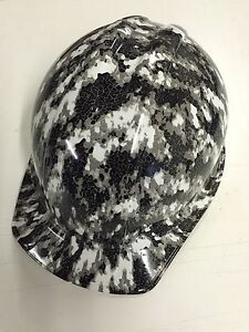 Hydro Dipped Hard Hat Defected Digi Camo W Ratchet Strap Water Transfer Printed