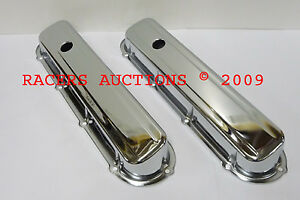 Cadillac V8 Chrome Plated Valve Covers Stock Height Style 368 425 472 500 Caddy