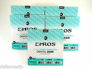 Rubber Dental Dam 5 x 5 Sheets Heavy Green Kit 5 Box