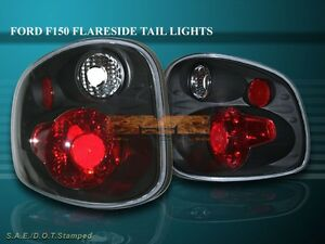 2001 2003 Ford F150 F 150 Tail Lights Jdm Black