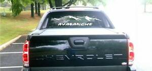 2002 Chevy Avalanche Rear Window Decal Graphic Sticker