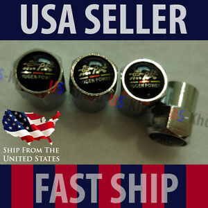 Mugen Power Logo Valve Stem Caps Covers Wheel Tire Acura Rsx Civic Si Gsr Jdm
