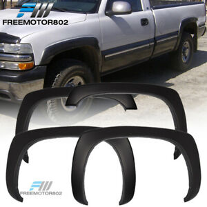 For 99 06 Chevy Silverado Oe Factory Style Fender Flares Set Of 4 Matte Black