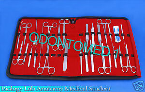 35 Pcs Biology Lab Anatomy Medical Student Dissecting Kit Scalpel Blades 15