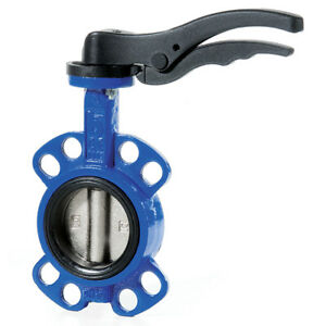 Cast Iron Wafer Butterfly Valve Epdm Seat Stainless Disc 2 To 12