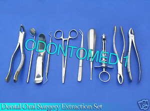 Set Of 10 Pcs Oral Dental Extraction Kit extracting Forceps 150 151 16 ex 345
