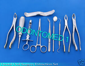 Set Of 10 Pcs Oral Dental Extraction Kit extracting Forceps 150 151 151a ex 334
