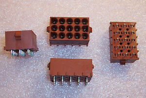 Qty 10 350830 1 Amp Tyco 15 Position Power Socket Headers 6 35mm
