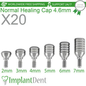 20 Healing Cap Normal 4 6mm For Dental Implant Internal Hex Prosthetic Lab
