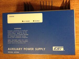 Edwards Est Aps8a Fire Alarm System Auxiliary Power Supply
