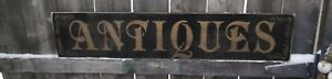 Hand Painted Wood Antiques Sign Primitive Customize Colors Rustic 3ft X 8