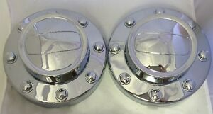 New 2011 2016 Dodge Ram 3500 Dually 1 ton Truck Rear Alcoa Wheel Center Cap Pair