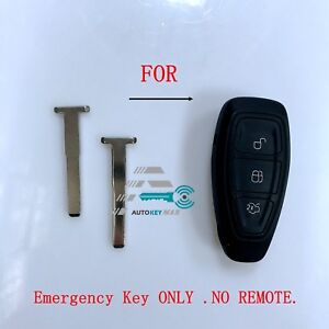 2 New Peps Smart Prox Insert Remote Emergency Key Blade Blank Uncut For Ford
