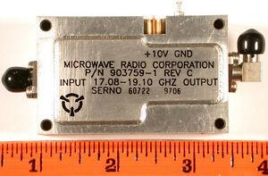 Microwave Source Lo 17 08 19 10 Ghz 8 Dbm Sma 4x Mult unused Qty 1