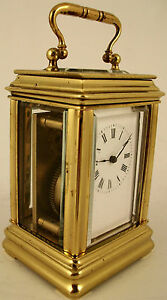 Antique Miniature French Carriage Clock Circa 1900