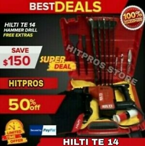 Hilti Te 14 Preowned Durable Free Bits Chisels Hilti Hat Extras Fast Ship