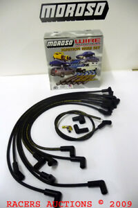 Bbc 396 454 502 Chevy Angled Boot Hei Under Header Spark Plug Wires Moroso 9866m