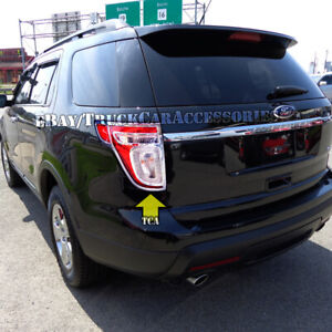 For 2011 2012 2013 2014 2015 Ford Explorer 2 Chrome Tail Lights Bezel ...