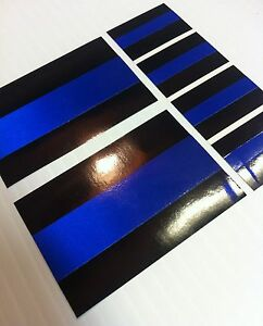 Thin Blue Line Decals 3 Sizes Stickers Pba Fop Police Trooper Blue Lives Matter