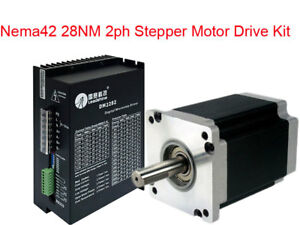 28nm Nema42 Cnc Stepper Motor Drive Kit 2ph 6 5a 110mm 180 240vac 110hs28 dm2282