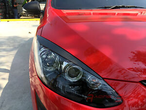 Sport Unique Real 3d Glossy Carbon Fiber Eyebrows For 07 14 Mazda2 De Mazdaspeed