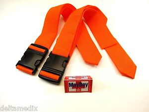 Medical Emergency Standard Strap Stretchers Belt Spine Board Set 2 191 mayday