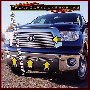 For Toyota Tundra 2007 2008 2009 4pc Overlay Grille Combo Main Logo Fit Bumpers
