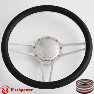 14 Billet Steering Wheels Black Half Wrap Dodge Challenger Charger Daytona