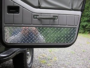 1987 To 1995 Jeep Yj Wrangler Diamond Plate Interior Half Door Covers Very Nice