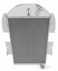 1934 1936 Chevy Pickup Truck W 6cyl Aluminum 3 Row Champion Radiator